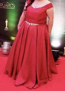 Red Plus Size Formal Gown