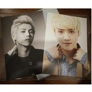 EXO Luhan SMTOWN Week A4 Photo (2 pcs a set) - RM90