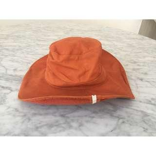 NEW One Teaspoon Orange 100% Cow Suede Hat, RRP $79.00