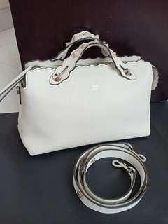 Preloved Authentic Fendi BTW White Stud bag only (28x17cm)