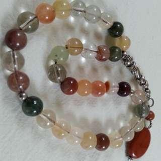 TASBIH BEAUTIFUL JARUM EMAS ( TOURMALINE ) 33 beads