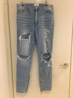 Fear of god ripped jeans