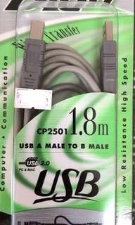 🚚 USB A Male to B Male cable