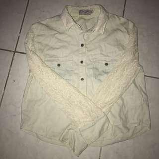Just G Lace Button Up