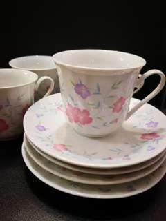 Porcelain Cup and saucer 4 sets