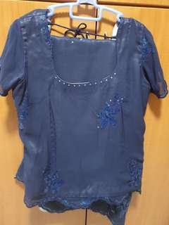 Lace suit ( blouse n long shirt)