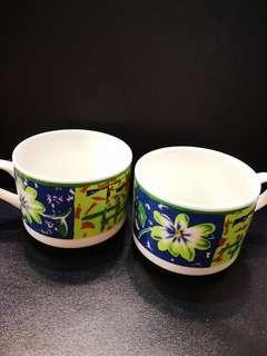 Porcelain Coffee Tea Cups 6pcs