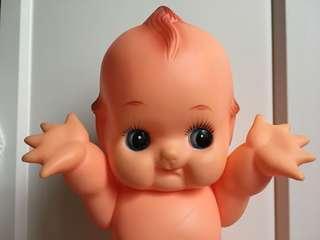 日本購入 日本製 Kewpie 34.5cm bibi聲 沙律Bb 丘比 Bb 軟膠昭和娃娃 公仔(非sonny angel)
