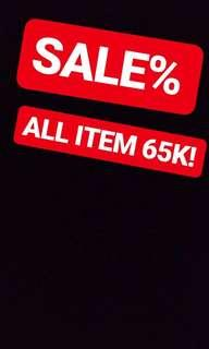 sale all item 65k