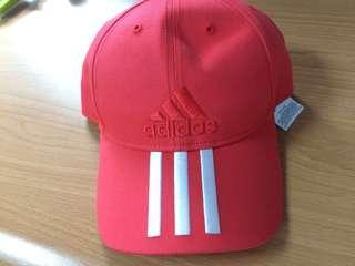 🚚 Adidas愛迪達經典鴨舌帽(橘紅色)