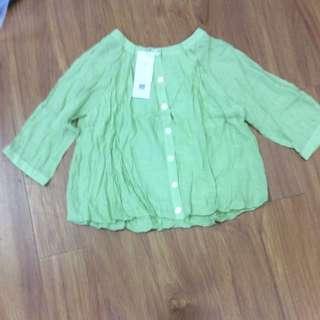 淺綠娃娃衫襯衫