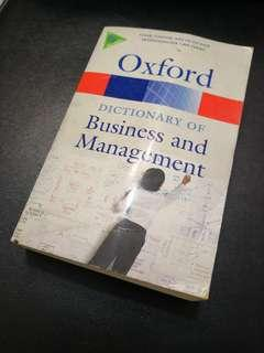 Oxford's Business & Management Dictionary
