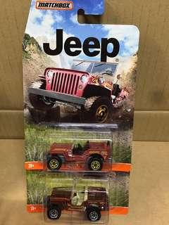 Matchbox Jeep 2架 收藏品只限深水埗交收
