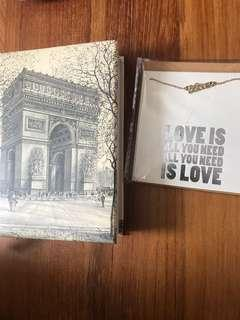🚚 Notebook with free necklace