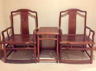 紅木椅及茶几組合 Rosewood chair and coffee table set