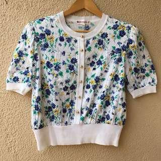 Floral classic top (buttondown)