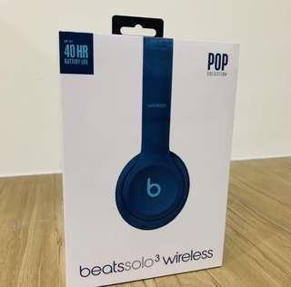 Beat solo3 wireless 藍綠色 全新未拆