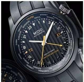 瑞士MIDO美度在台十週年紀念機械錶(限量200只),,,,,,,,,,非ROLAX,OMEGA,SEIKO,HAMILTON