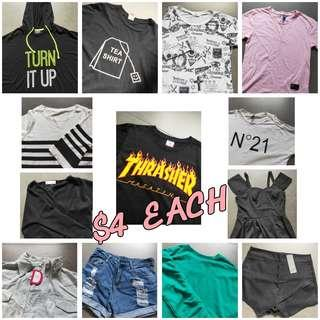 $4 Clothes Urgent CHeap Clearance Ulzzang Harajuku Tops bottom Dresses outerwear