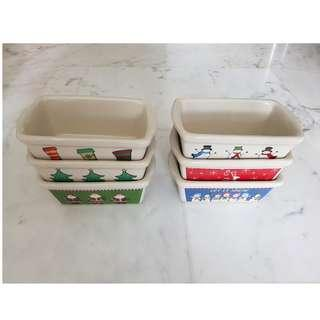 Stoneware baking set (6 pieces) - Cute Christmas themed