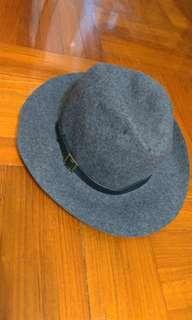 紳士帽 絨面 灰色