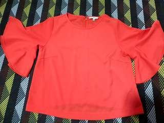 BUY ONE FREE ONE / Orange & Black Flare Sleeve Shirts