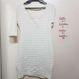 White bodycon strechable dress