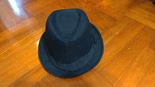 黑色 紳士帽 H&M hat
