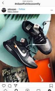 US4-12 Nike Zoom X Off White Black
