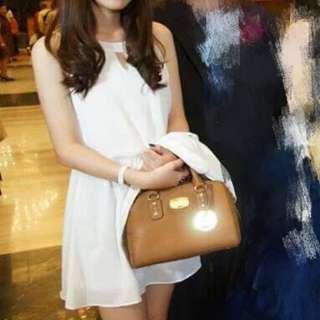 🚚 白色雪紡洋裝