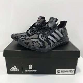 🚚 US4-12 Adidas Ultra Boost X Bape Bathing Ape Black Camo