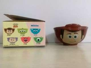Pixar x 7-11 迪士尼 卡通大頭造型陶瓷碗 胡迪