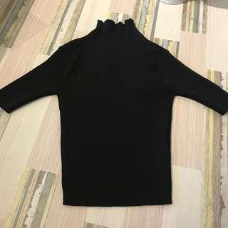 Zara inspired high neck ribbed shirt
