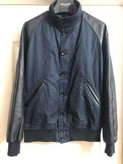 N.hollywood 皮袖jacket used 90%new Sz 38