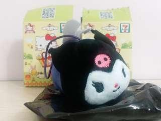 7-11 Sanrio Characters扮乜扮物『扮』動物毛公仔 Kuromi 蝙蝠 可羅米