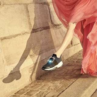 ROGER VIVIER Viv' Run二手黑色鑽扣鞋子