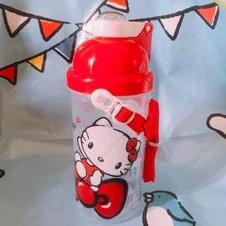 【台灣直送】正版 Hello Kitty 500ml 兒童 吸管 水壺 水樽