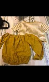 🚚 Trendy mustard favourites (from TEM and brandy Melville)