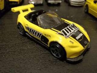 Mazda MX-5 Miata Yellow Volk Racing Wheel Mattel Hot Wheels Hotwheels Car #MakeSpaceForLove