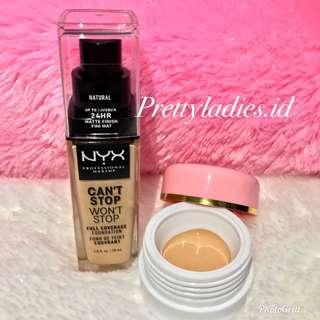 NYX Professional Can't Stop Won't Stop Foundation Share in jar