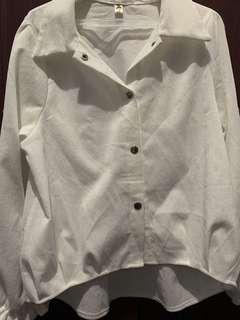 White corduroy blouse