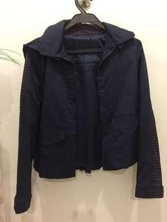 Jacket with detachable hoodie