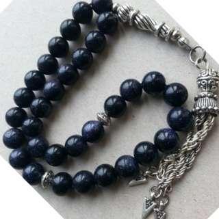 TASBIH BLUESAND STONE 33 beads