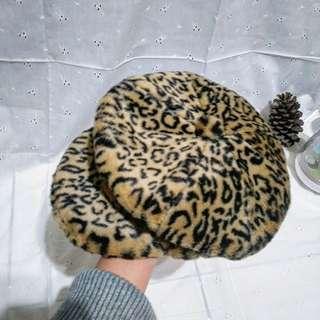 🚚 日本帶回🎌豹紋女孩報童帽