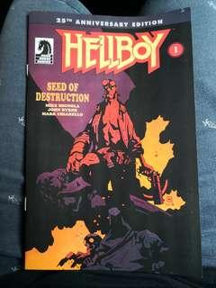 🚚 Hellboy 25th Anniversary Edition Comic number 1