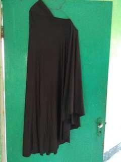 Jilbab Instan coklat tua