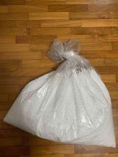 Bag of polystyrene balls