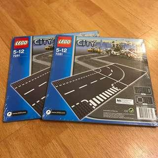 🆕 LEGO 7281 City Curved Road Plates