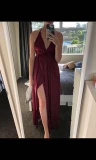 Akela Maxi Dress Merlot Ball dress