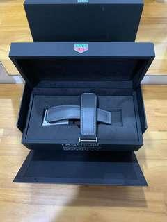 100% Authentic Tag Heuer Modular 45 Leather strap Grey